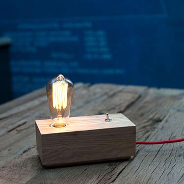 luminaire ampoule blue print