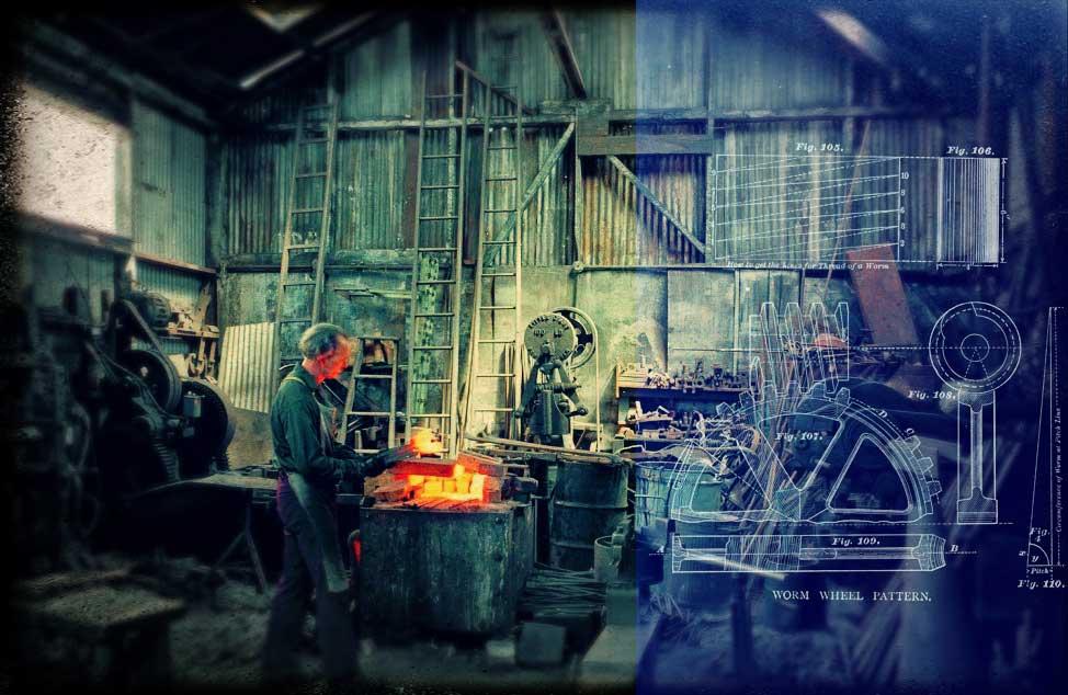 atelier bleus travail cambouis