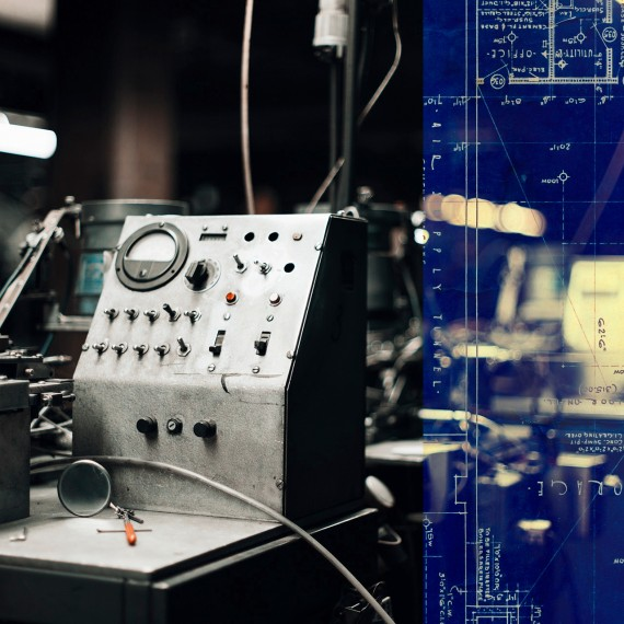 blueprint vintage industrial