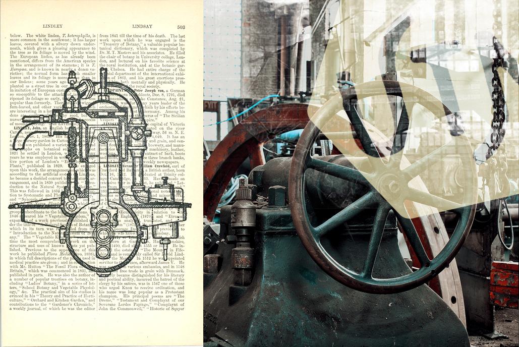 vintage industriel dessin